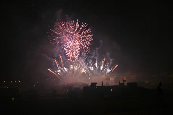 Fireworks from roof garden 51,2 Kb